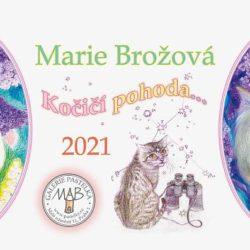 Kočičí stolní kalendář 2021